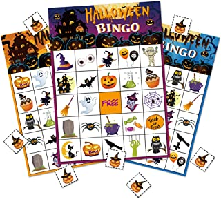 Halloween Bingo Game Party Supplies For Kids 24 Player