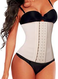 SHAPERX Women`s Latex Colombian Waist Trainer Corset Long Torso Waist Cincher Weight Loss
