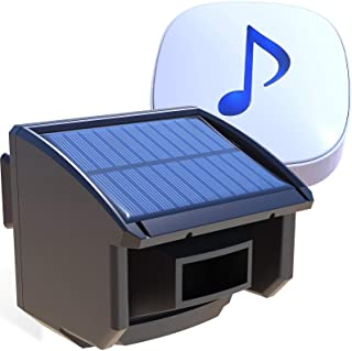 Driveway Alarm- 1/4 Mile Long Transmission Range-Solar Powered No Need Replace Batteries-Outdoor Weatherproof Motion Senso...