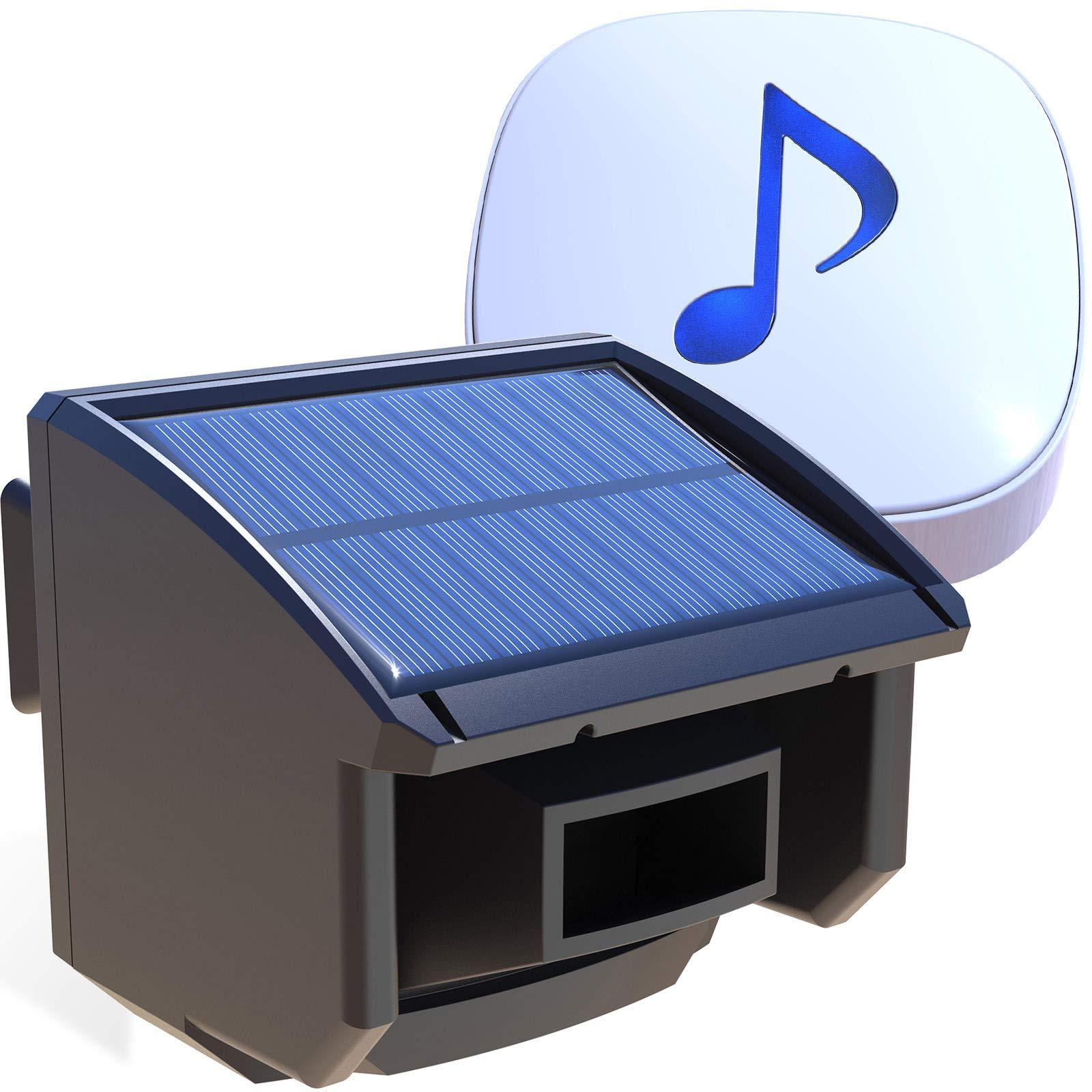 Driveway Transmission Range Solar Batteries Outdoor Weatherproof