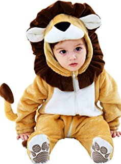 Halloween Costume Baby Infant Skeleton Lion Skull Cosplay Romper Toddler Halloween Dress up Outfit 0-24 Months