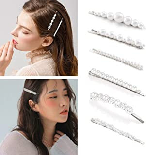 Pearls Hair Clips for Women Girls Fashion Bobby Pins Decorative Pearl Barrettes Hair Clamps hair pins hair barrettes pearl...