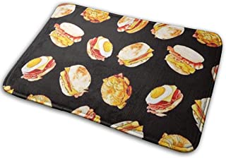 DENETRI DYERHOWARD Bath Mat Hamburger Non Slip Bath Rug Washable Bathroom Soft Kitchen Floor Door Mat