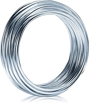 2Pack Aluminum Wire Anodized Metal Wire for Craft Bendable Metal Craft Wire for DIY Black 1.5mm 32.8 ft 10 M KSVZS