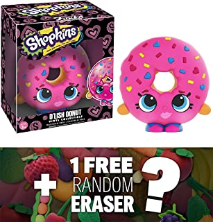 Funko D'Lish Donut x Shopkins Vinyl Figure + 1 FREE Japanese Food Themed Mini-Eraser Bundle (07433)