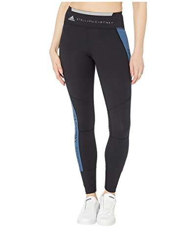 adidas by Stella McCartney Run Performance Tights FK9709 (Black/Visual Blue) Women