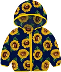 RAISEVERN Baby Girls Coat 18-24 Months Puffer Hooded Jackets for Toddler Winter Outwear