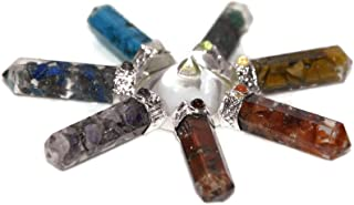 Healing Crystals And Healing Stones Pyramid Energy Generator- Chakra Gemstones And Crystals With Chakra Stones Bracelet Kit Meditation Gifts-Witchcraft Supplies-Reiki Supplies 7 Chakra Generator