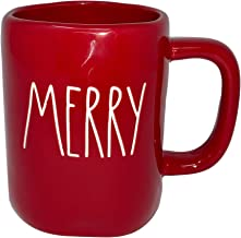 RAE DUNN RED MERRY MUG - Artisan Collection BY MAGENTA - Beautiful Red Rae Dunn MERRY MUG to enjoy your favorite hot coffee or hot tea on a cold Christmas winter morning