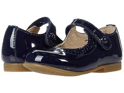 FootMates Emma (Toddler/Little Kid) (Navy Patent) Girls Shoes