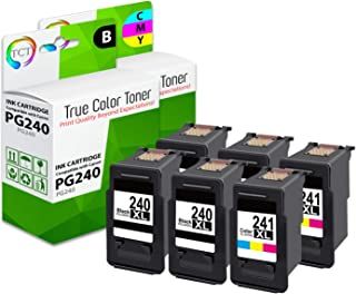 TCT Compatible Ink Cartridge Replacement for Canon PG-240 CL-241 Works with Canon Pixma MG2120 MG3220 MG3222, MX432 MX452 MX459 Printers (Black, Color) - 6 Pack