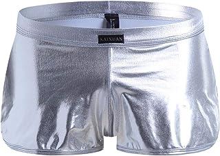 6ecda055b4bc ESAILQ-underwear Hombres Pantalones Cortos Calzoncillos Ropa Interior  Atractiva De La Patente De Cuero Calzoncillo