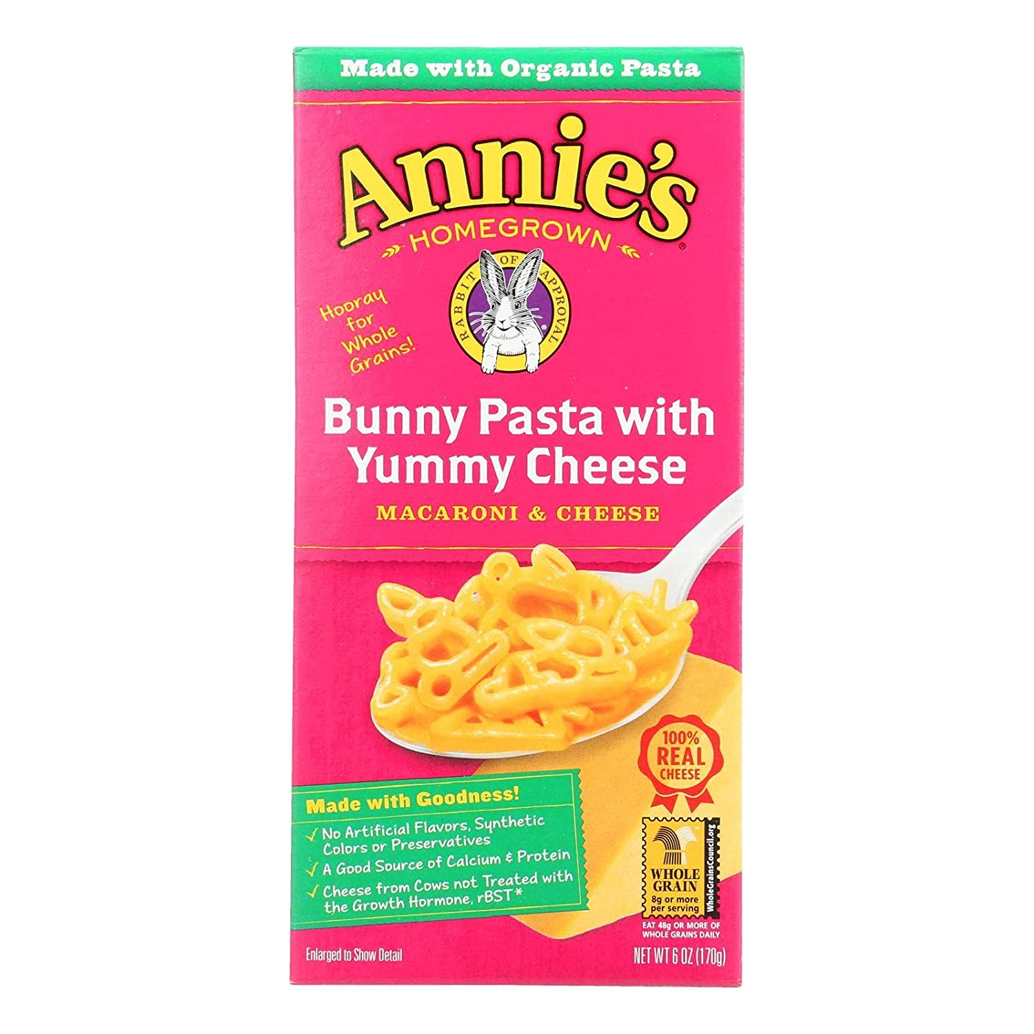 Annies Over item handling Oklahoma City Mall Homegrown Macaroni And Cheese Organic - Pasta Wit Bunny