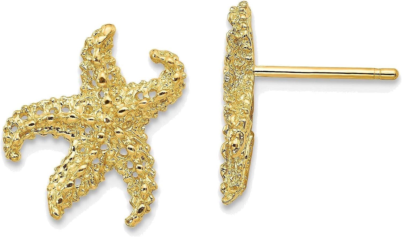 Starfish Earrings in 14K Yellow Gold