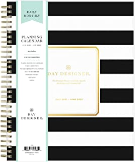 """$39 » Day Designer for Blue Sky 2021-2022 Academic Year Daily & Monthly Planner, 8"""" x 10"""", Frosted Flexible Cover, Wirebound, Ru..."""