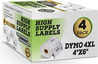 Dymo 4XL Labels (4 Pack) Compatible 1744907 4x6 Dymo Labels, Dymo 4x6 Labels, Dymo Labels 4x6, Dymo 4XL Labels 4x6, 4XL Thermal Labels, 4XL Shipping Labels, 4x6 4XL Dymo Labels