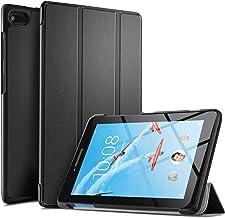 ELTD Funda Carcasa para Lenovo Tab E7, Ultra Delgado Silm Stand Función Smart Fundas Duras Cover Case para Lenovo Tab E7 7 Pulgadas 2018 Tableta, (Negro)
