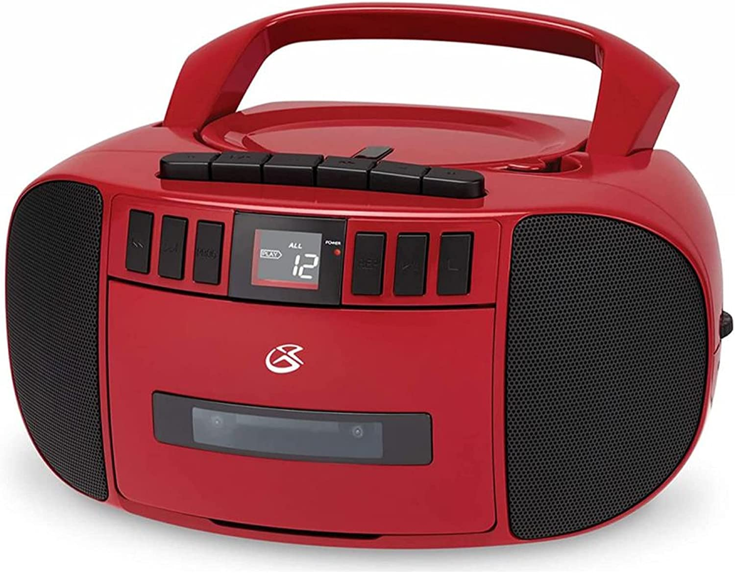 GPX BCA209R Portable Am FM Boombox excellence Austin Mall and with Player CD Cassette