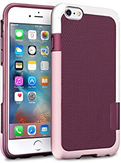 iPhone 6S Case, TILL(TM) [Ultra Hybrid] iPhone 6 / 6S (4.7 Inch) Case Hybrid Best Impact TPU Shockproof Rugged Matte Shell Exact-Fit Dual Protection Silm Back Strips Anti-Slip Cover Case [Pink/White]