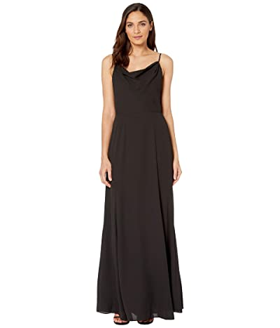 WAYF The Melanie Cowl Neck Gown (Black) Women
