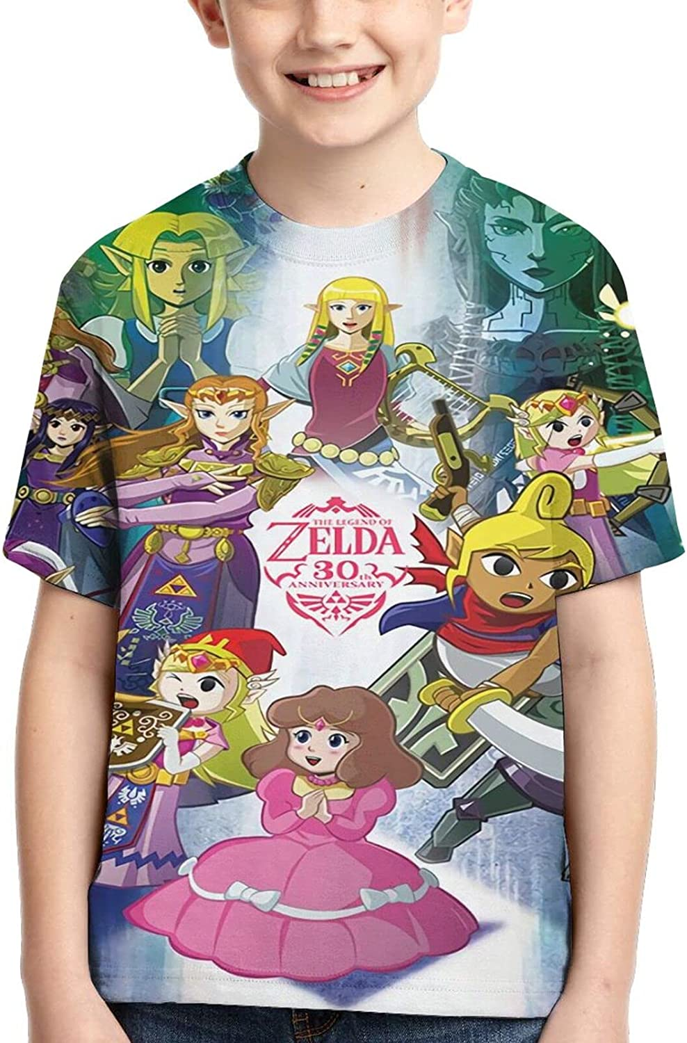 The Legend of Zelda T Shirt,3D Print Funny Polo Shirts Short Sleeve Tops,for Youth Tee Boys Girls