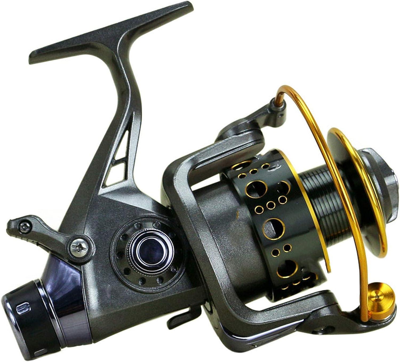 New Double Brake Design Fishing Reel Super Strong Carp Fishing Feeder Spinning Reel Spinning Wheel Type Fishing Wheel
