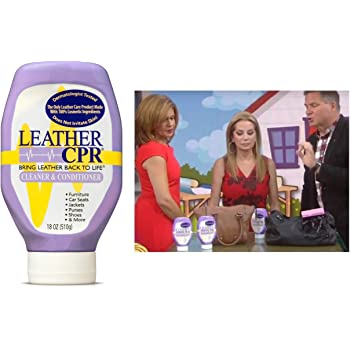 Leather CPR Cleaner & Conditioner By CPR Cleaning Products (18oz Bottle) Restores & Protects Leather Furniture, Purses, Car Seats, Jackets & More