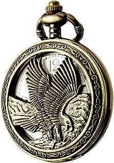 Design Pocket Watch Chain Quartz Movement Arabic Numerals Half Hunter for Eagle Scout
