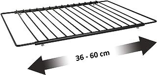 UPP® Rejilla de horno extensible I rejilla extensible de acero para horno, grill I 36-60cm de ancho I con capa de teflón antiadherente