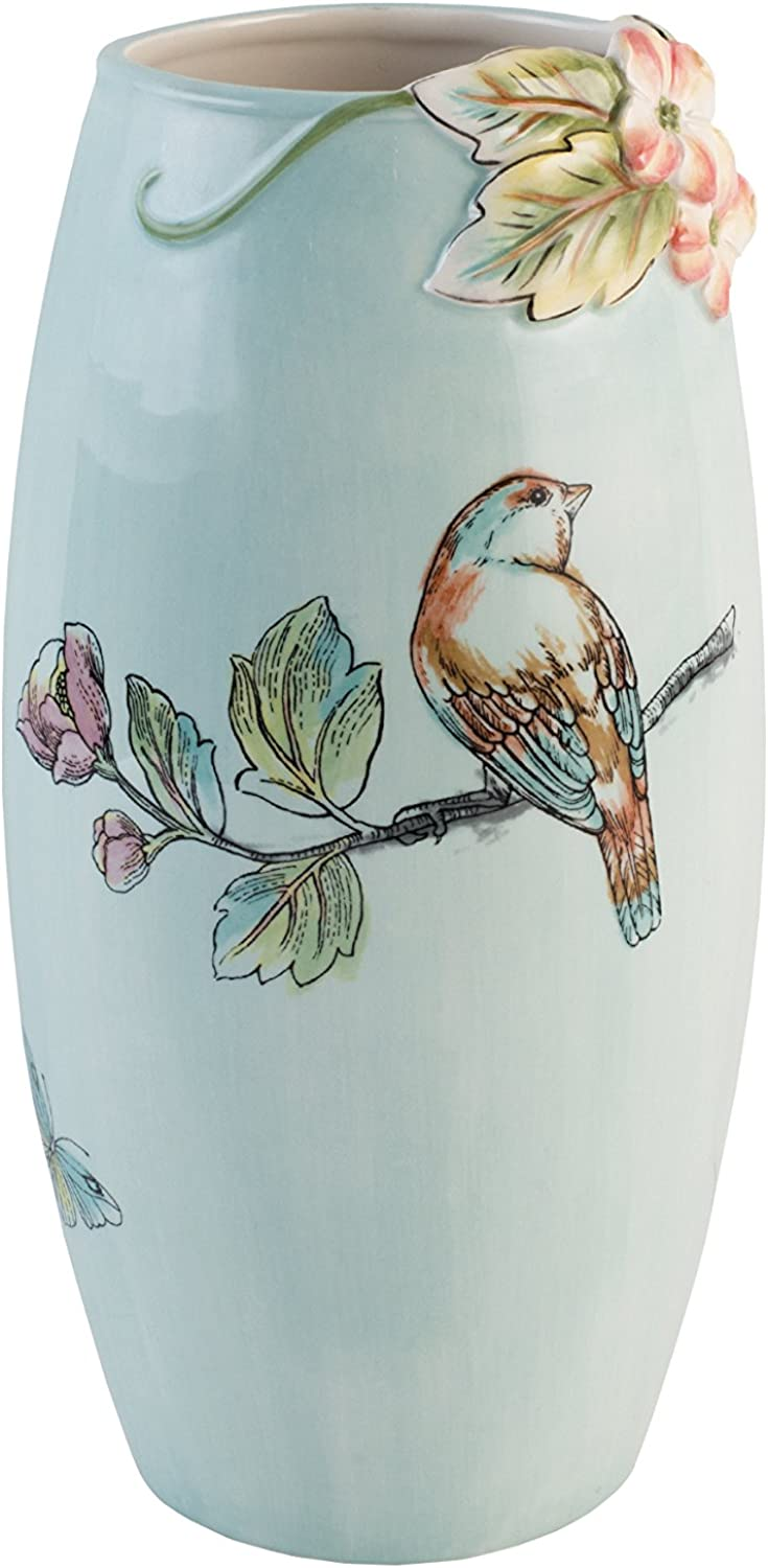 Fitz and Floyd 21-068 English Garden Vase, Baby bluee