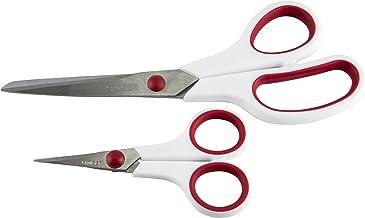 SINGER 3404 Scissors, 1-Pack, Red & White