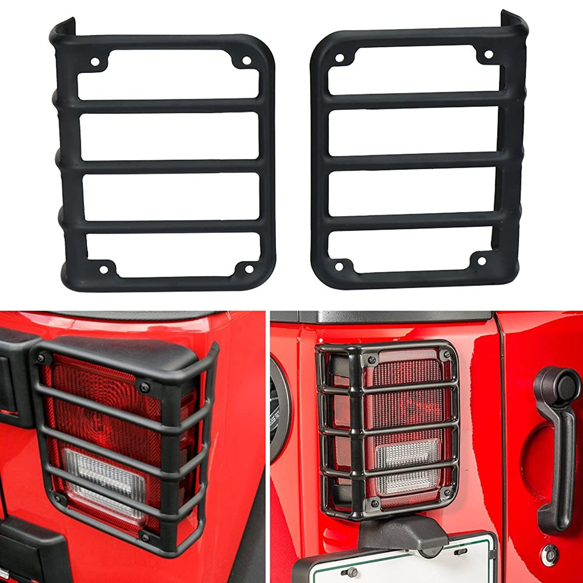 Jonathan-Shop - Pair of Taillight Guard Bracket for Jeep Wrangler (JK) 2007- US Version