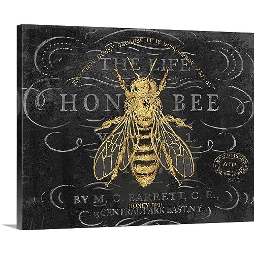 Graham /& Brown Bee Happy Wall Art