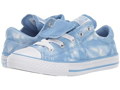 Converse Kids Chuck Taylor(r) All Star(r) Maddie (Little Kid/Big Kid) (Light Blue/Light Blue/White) Girl