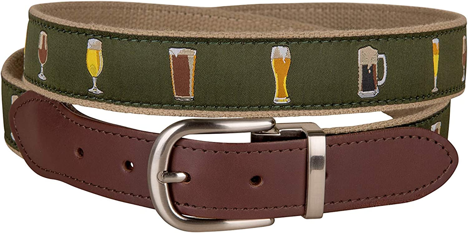 Ales Lagers Cut-to-Size Leather Tab 舗 Cow by 好評 Company Belt Belted