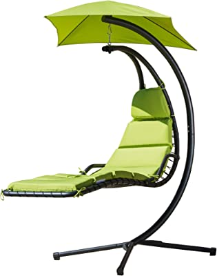 Christopher Knight Home La Costa Outdoor Hanging Chair with Cushion, Green