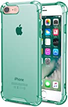 Speira iPhone 8 / iPhone 7 Transparent Case with Reinforced Corners, [Anti-Discoloration] [No-Slip Grip] (Green)