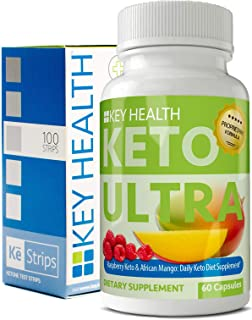 Keto Ultra - Keto Diet Pill Supplement Bundle with Bonus Keto Test Strips to Measure Ketosis Levels. Jump Start Ketosis. Help Improve Weight Loss Efforts & Energy