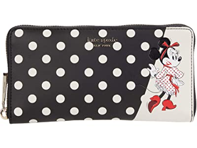 Kate Spade New York Disney X Kate Spade New York Minnie Zip Around Continental (Black Multi) Handbags