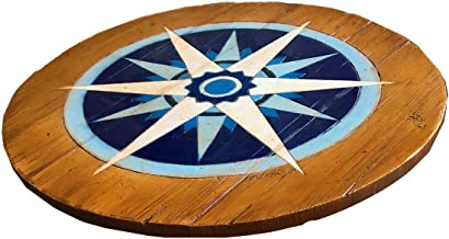 product image for Nautical Compass Rose Lazy Susan