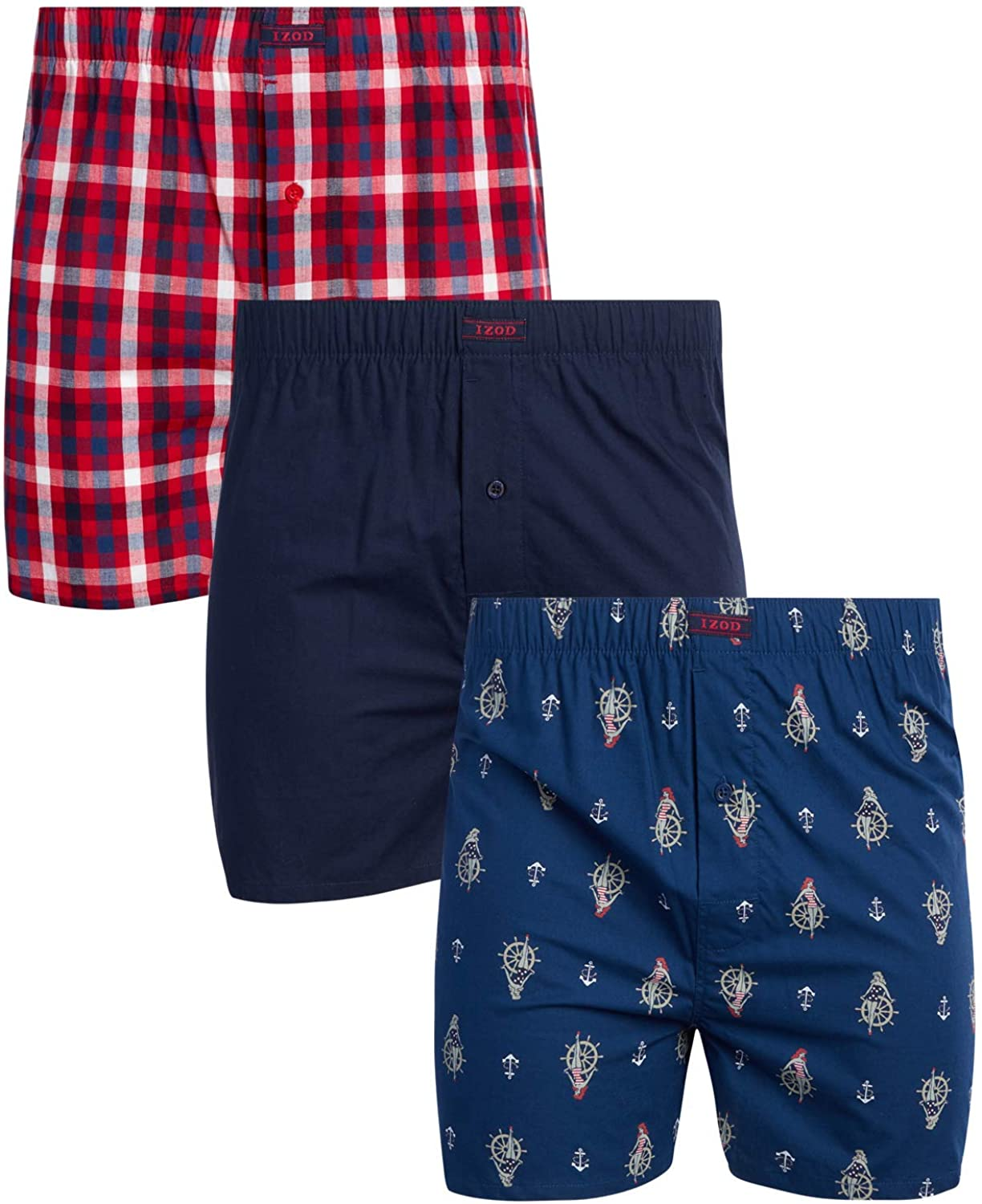 IZOD Men's Underwear – Cotton Functi latest Woven OFFer with Boxers