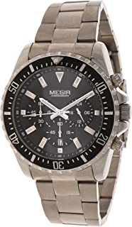 Megir Wrist Watch for Men, Stainless Steel, MS2064G-1