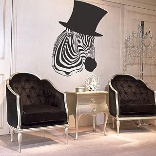 Interior Wall Decal Vinyl Sticker Art Decor Design Zebra Stripes Animal Pelt Hat Zoo Horse Nature Striped Bedroom Hostel Living Room (I39)