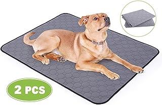 Pecute Alfombra para Perro Impermeable 2 PCS Almohadillas de Entrenamiento para Perros Toallitas de Entrenamiento Pañales Lavable Ultraabsorbente Reutilizables Empapadores Antideslizante (L 90x70cm)
