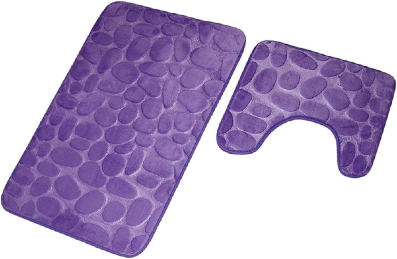 DZHTWSRYGR Non-Slip Mat 2-Piece Toile Carpet Bathroom Free shipping NEW before selling ☆