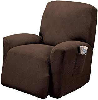 Stretch Sensations, Optic Recliner Slipcover, Standard Recliners, Perfect Chair Protection, Comfortable and Easy Stretch Fabric (Chocolate)