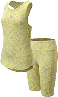 Girls' Bike Shorts Set - 2 Piece Sleeveless Performance...