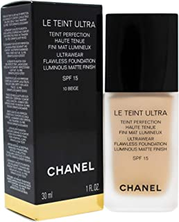 Chanel Le Teint Ultra Foundation SPF 15 - 10 Beige for Women - 1 oz Foundation, 30 Milliliter