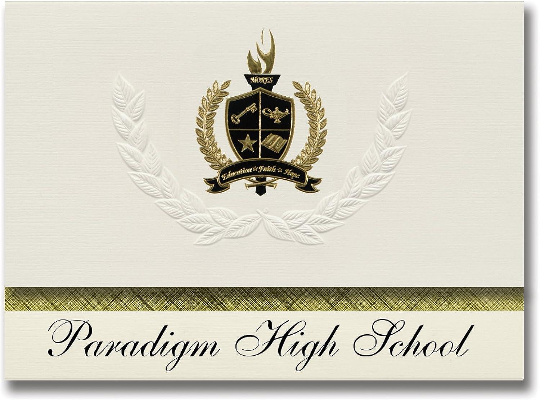 Signature Ankündigungen Paradigm High School (South Jordan, UT) Graduation Ankündigungen, Presidential Stil, Elite Paket 25 Stück mit Gold & Schwarz Metallic Folie Dichtung B078VD3MGQ   | Abrechnungspreis