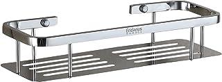Eridanus Estante para Ducha, Estantería de Baño Rectángulo de Acero Inoxidable en la Pared Bandeja Taladrada de Cocina para Accesorios de Baño, Plata(34,5x13x7cm)